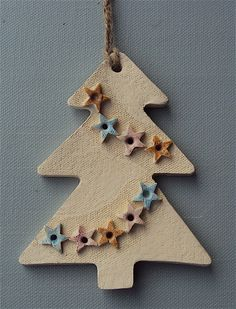 Árbol de Navidad de cerámica Decoración £ 6.00 #novrockets #handmadebot #bizitalk #folksy #christmas #gifts #bizRT:
