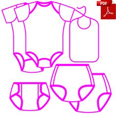 ABDL Sewing Patterns - adult onesies, plastic pants in various styles and sizes XSmall up to 5XLarge! FREE - Prefold Diaper and Adult Bib Patterns!