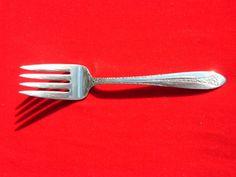 Margaret Rose Solid Sterling Silver Flatware - Cold Meat Fork - National Sterling Silver Co. - Rose Pattern
