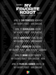 #housemusic My Favorite Robot Announces 10 Year Anniversary Spring Tour Dates: There's few music collectives that can raise their glass and…