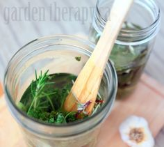 Herb Infused Vinegar - lots of combinations listed that are wonderful on salads