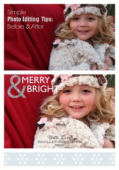How to Create Show-Stopping Holiday Cards - simple photo editing tips using free PicMonkey site, and more.