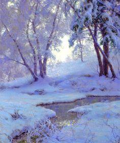Walter Launt Palmer (American painter, 1854-1932) Winter Landscape