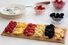 Recept: Open confituretaart / Recipe: Puff pastry with summer fruits