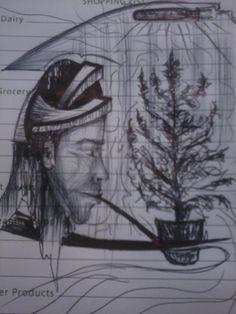 dibujo despues despues de fumarme las esperanzas