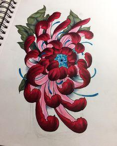 Flower power Forearm design #flowers #chrysantemum #flower #color #art #artwork #artsy #artist #drawing #illustration #painting #doodle #practice #lovemyjob #forsale #forearm #design #tattoo #tattooart #tattoodesign #copenhagen #custommade #ink #inked #tatted #japanese #oriental #asian #apprentice #