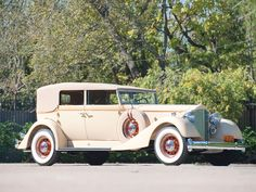1934 Packard Twelve Convertible Sedan.