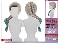 Coupure Electrique: LeahLillith`s Elsa hair retextured kids and toddlers version - Sims 4 Hairs - http://sims4hairs.com/coupure-electrique-leahlilliths-elsa-hair-retextured-kids-and-toddlers-version/