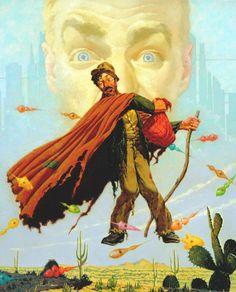 H.R. VAN DONGEN - art for Astounding Science Fiction - Feb 1952 - Vol 48 #6