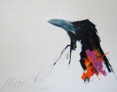 Sarah Rogers, Listen, watercolour, 36 x Watercolor Sketch, Watercolor Artists, Watercolor Paintings, Watercolors, Southwestern Paintings, Southwest Art, Bird Outline, Jackdaw, Crows Ravens