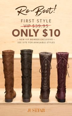 Cyber Month Is Here! - Get Your First Pair of Boots for Only $10! Take the 60 Second Style Quiz to get this exclusive offer!