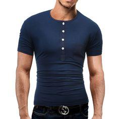 Marca 2017 de la moda masculina o cuello de la camisa de polo hombre polo de los hombres de color sólido delgado xxxl dd04 en Polo de Ropa y Accesorios en AliExpress.com   Alibaba Group