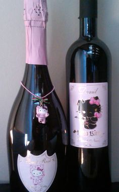 """""""Angel"""" White Wine, """"Devil"""" Red Wine, Sweet Pink and Brut Rose Champagne"""