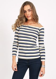 Coin Toss Striped Top at threadsence.com