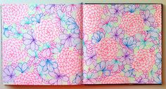 Our wintry days are brightened by @20x200 artist @lisacongdon's colorful floral sketchbook spreads! Check out her sketchbook course!