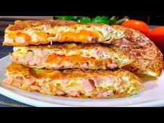 Śniadanie dla leniwych -wszystko kładę na patelni i na kuchence,po 10 minutach śniadanie jest gotowe - YouTube Best Breakfast Recipes, Brunch Recipes, Baked Omelette, Lasagne Recipes, Herd, Special Recipes, Yummy Eats, Meals For One, Hot Dog Buns