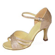 0b63f96df5213  € 26.03  Femmes Similicuir Talons Sandales Latin avec Lanière de cheville  Ouvertes Chaussures de