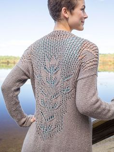 Mallow Lace Cardigan Free Knitting pattern and more cardigan knitting patterns