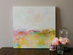 soft colorsabstract landscapelandscape by oakartgallery on Etsy