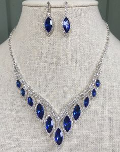 Beautiful Sapphire Royal Blue and Clear by OurWanderingHearts