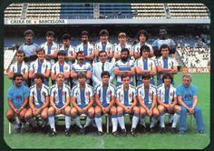 RCD Espanyol team group in 1986.