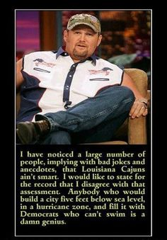 Larry the Cable Guy speaks out