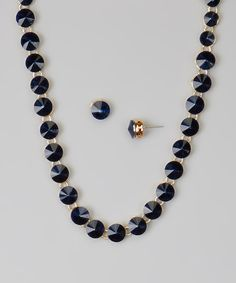 Look at this #zulilyfind! Montana Blue Crystal Necklace & Stud Earrings by Accessories West Imports #zulilyfinds