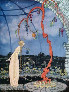 Virginia Frances Sterrett : Rosalie's Tree | Etsy Art Illustration Vintage, American Illustration, Fairy Tale Illustrations, Food Illustrations, Botanical Illustration, Art Inspo, French Fairy Tales, Bel Art, Poster Art