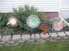 glass flowers, multicolored trio