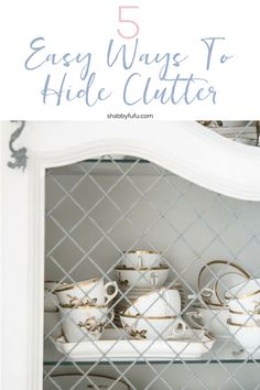 How to organize clutter in your home with easy tips for storage in unexpected places! #organize #organization #clutter #closets #storage #storageideas #hygeehome