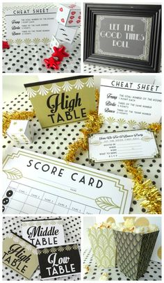 Couples Bunco Night with TONS of printables to make a group date night so easy!