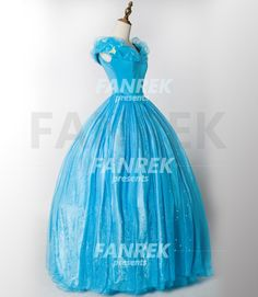 Cinderella's blue dress ball gown for adults from Disney's Live Action film Cinderella (2015)