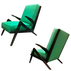 1stdibs - Grasshoper Shaped 1950s  Pair of Italian Arm-Chairs explore items from 1,700  global dealers at 1stdibs.com