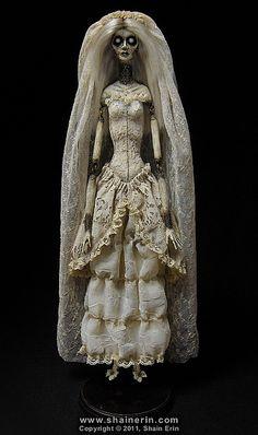 'Lost Lenore' - Ghost Art Doll by Shain Erin. Inspired by Edgar Allan Poe.