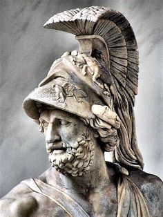 "Sculpture in Florence of King Menelaus of #Sparta, husband of Helen, whose unparalleled beauty was the ""face that launched a 1,000 ships""."