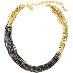 Iosselliani 'Black Hole Sun' necklace ($225) ❤ liked on Polyvore featuring jewelry, necklaces, metallic, gold plated necklace, gold plated jewelry, gold plated jewellery, long chain necklace and chain necklace