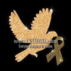 Yellow Ribbon Rhinestone