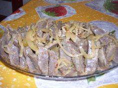 Острая мясная закуска из куриных желудков