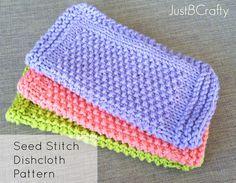 Seed Stitch Dishcloths