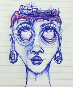 Indie Drawings, Psychedelic Drawings, Art Drawings Sketches Simple, Arte Grunge, Grunge Art, Trash Art, Indie Art, Arte Sketchbook, Art Inspiration Drawing