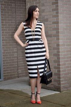 Trendy striped dress
