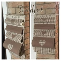 To make this and hang on the kirchen door, Pure HeART di Francesca Pugliese: Cucito creativo per la tua casa Fabric Crafts, Sewing Crafts, Sewing Projects, Craft Storage, Bag Storage, Hanging Storage Pockets, Home Crafts, Diy Home Decor, Linen Storage