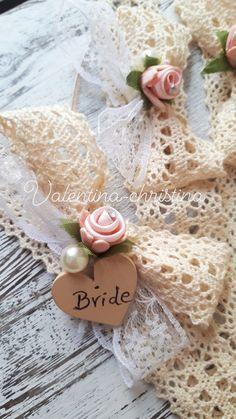 Μπούτουνιερα νύφης για το πάρτυ πριν το γάμο by valentina-christina handmade products 2105157506