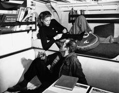 Lauren Bacall and Humphrey Bogart.