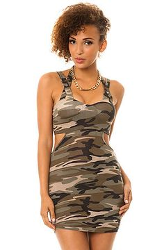 eecbfbbb6eeb0 MKL Collective Dress Pumped Up Bodycon in Camo Green Camouflage Pants, Cute  Dresses, Sexy