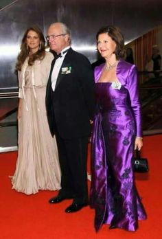 Princess Madeleine with her parents