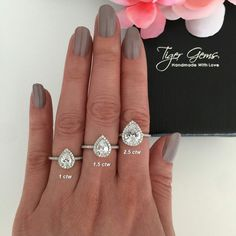 Pear Shaped Engagement Rings, Engagement Ring Shapes, Dream Engagement Rings, Affordable Engagement Rings, Solitaire Engagement, Bling Wedding, Wedding Bands, Dream Wedding, Pretty Rings