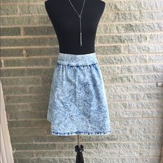 High rise acid wash skater skirt Brand new without tags I just never wore it - super full skater skirt and super soft! Charlotte Russe Skirts