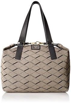 Women's Top-Handle Handbags - Fossil Preston Satchel Bag GreyBlack One Size * Want additional info? Click on the image.