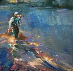 MARY MAXAM - Catch Of The Day...just loving the flashes of light on the water, makes it look as if it's really moving...